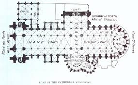 reims cathedral floor plan floor plan of soissons cathedral various pinterest