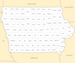 Iowa State Map Iowa Map Blank Political Iowa Map With Cities