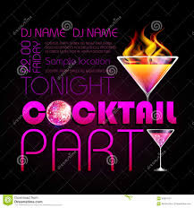 cocktail party poster stock vector image 43934707