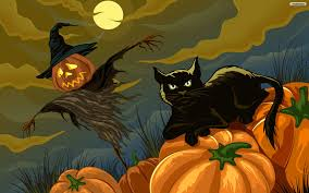 scary halloween wallpaper free black cat halloween wallpaper wallpapersafari