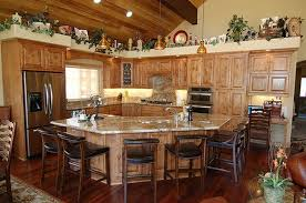 kitchen decorating idea rustic country kitchen decor idea with black chairs and wooden