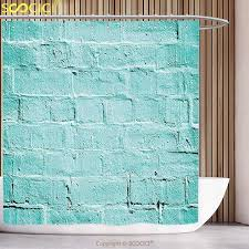 Mint Shower Curtain Decorative Shower Curtain Mint Brick Old Wall Background In