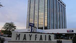 mayfair owner plans to redevelop 12 story office building on mall s