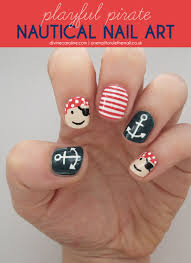 arrgh playful pirate and nautical nails natural nail art