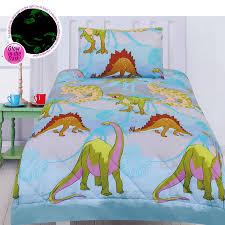 Dinosaur Bedroom Furniture by Glow In The Dark Dinosaur Comforter Set Double By Happy Kids