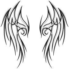 simple wings drawings free best simple
