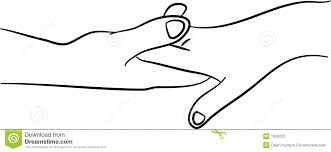holding hands stock illustration image of touching sketch 1624225