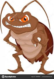 angry cockroach cartoon u2014 stock vector lawangdesign 150768396