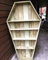coffin bookshelf coffin bookshelf furniture in san antonio tx offerup