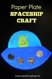 busy hands paper plate spaceship sand in my toes