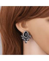 teardrop stud earrings slash prices on rhinestone teardrop stud earrings