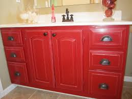 red painted bathroom vanity image design ideas for painted