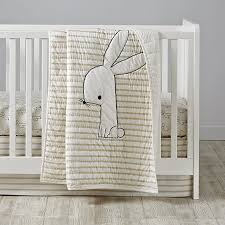 early edition crib bedding bunny the land of nod