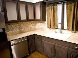kitchen backsplash ideas for dark cabinets expandable round dining