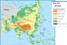 Physical Map Of East Asia by Regional Knowledge Revised By Ryan Hamilton