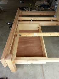 Bed Frame Plans With Drawers Storage Build Bed Frame Plus Diy Bed Frame With