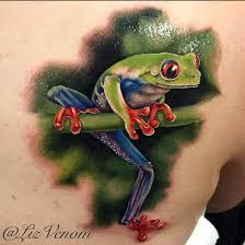 a beautiful tree frog by liz venom from bombshell
