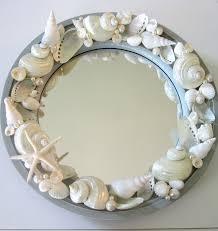 beach decor seashell mirror nauti shell beach crafts and craft