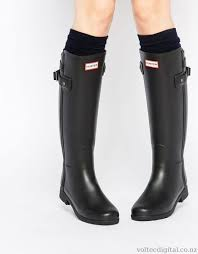 womens boots wellington nz original refined black gloss chelsea wellington boots