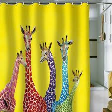 Polished Chrome Shower Curtain Rod Deluxe Carollynn Tice Grey Yellow Shower Curtain Kess Inhouse