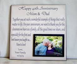 anniversary gifts for parents anniversary picture frame gift 40th anniversary 30th