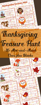 free printable thanksgiving treasure hunt for free