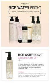 the face shop rice water bright cleansing light oil гидрофильное масло для лица rice water bright cleansing rich oil от