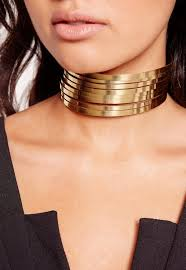 gold metal choker necklace images Metal layered choker necklace gold missguided jpg