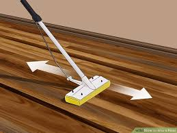 clean polyurethane how to wax a floor with pictures wikihow