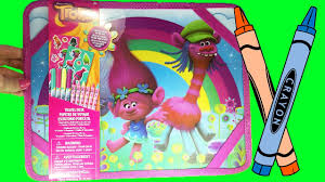 Travel Desk For Kids by Dreamworks Trolls Movie Travel Desk Crayons Markers Stickers Fun