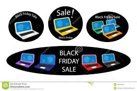 best computer deals black friday mobile computer on black friday sale background stock vector