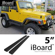matte grey jeep wrangler 2 door 5 inch eboard running boards matte black for 87 06 jeep wrangler 2dr