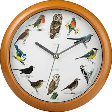 Wall Clocks by Bird Song Clock Different Tweet Every Hour Musical Wall Clock