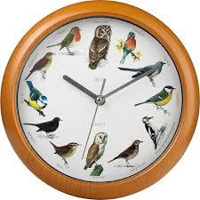 bird song clock different tweet every hour musical wall clock