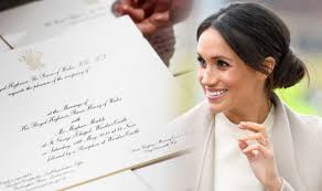 picture wedding invitations meghan markle royal wedding invitation didn t feature real