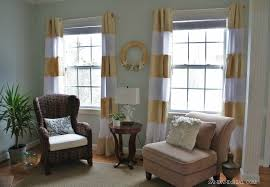 Gold Striped Curtains Remodelaholic 45 Diy Painted Curtain Styles