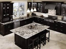 kitchen design ideas dark cabinets white brick l shaped outdoor