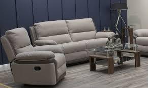 3 seater recliner sofa buy vida living alexandra oatmeal 3 seater recliner sofa online cfs uk
