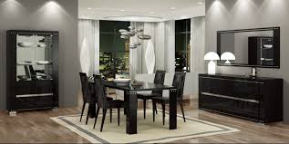 Black Lacquer Dining Room Chairs Dining Room Diamond Dining Room Set Glossy Black Lacquer Finish