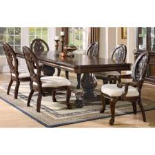 Espresso Pedestal Dining Table Dining Room Wallpaper High Definition Plank Dining Table