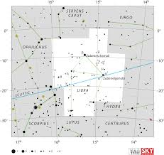 Map Of Constellations Libra Constellation Wikipedia