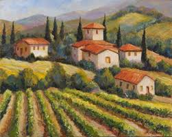 tuscany art for sale tuscany artworks contemporary tuscany art tuscan vineyard villal oil painting paintings for sale cheap oil paintings supply