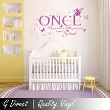 Bedroom Wall Stickers Uk Personalised Once Upon A Time Princess Wall Sticker Vinyl Decal