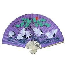 oriental fan wall hanging large 84 folding chinese wall fan oriental paper hanging purple