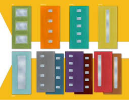 a whole crayon box full of mcm entryway doors by therma tru