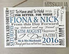 personalised wedding gifts wedding gifts for and groom ebay