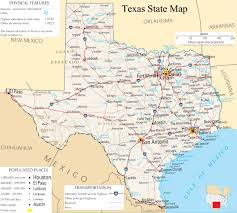 Nazareth College Map Texas State Map A Large Detailed Map Of Texas State Usa