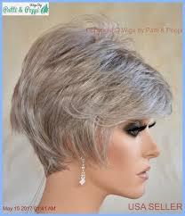 salt and pepper pixie cut human hair wigs sythetic short hair wig for women color grey 56 salt pepper