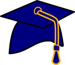 blue graduation cap blue cap clip at clker vector clip online royalty