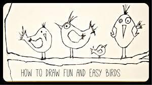 draw drawing tutorial funny easy birds